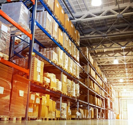 packages in a warehouse