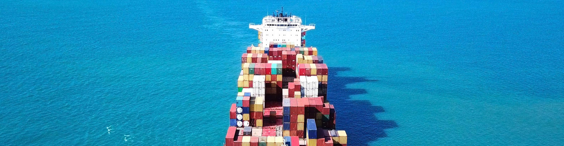 portrait of a container ship
