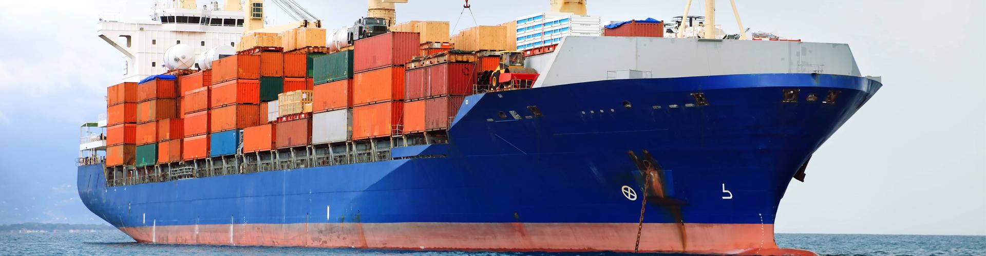 ship transporting cargo
