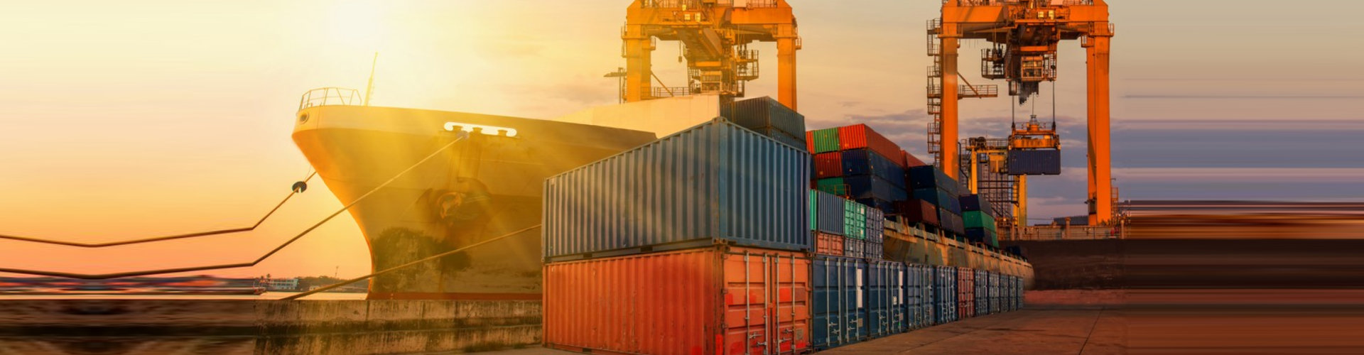 cargo ship docked on port